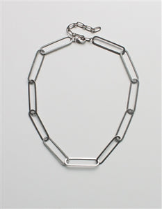"Paperclip Chain 16""-18"" Necklace"