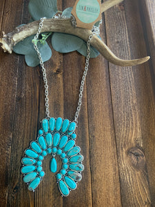 Big 4 Turquoise Stone Chained Pendant
