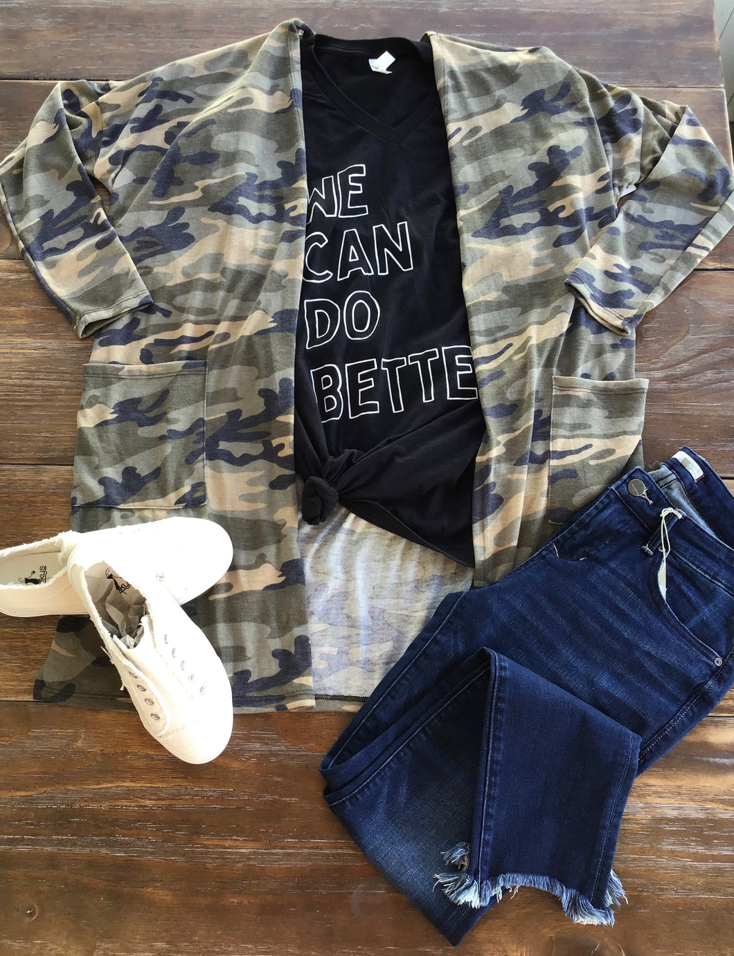 Camo Long Sleeve Cardigan
