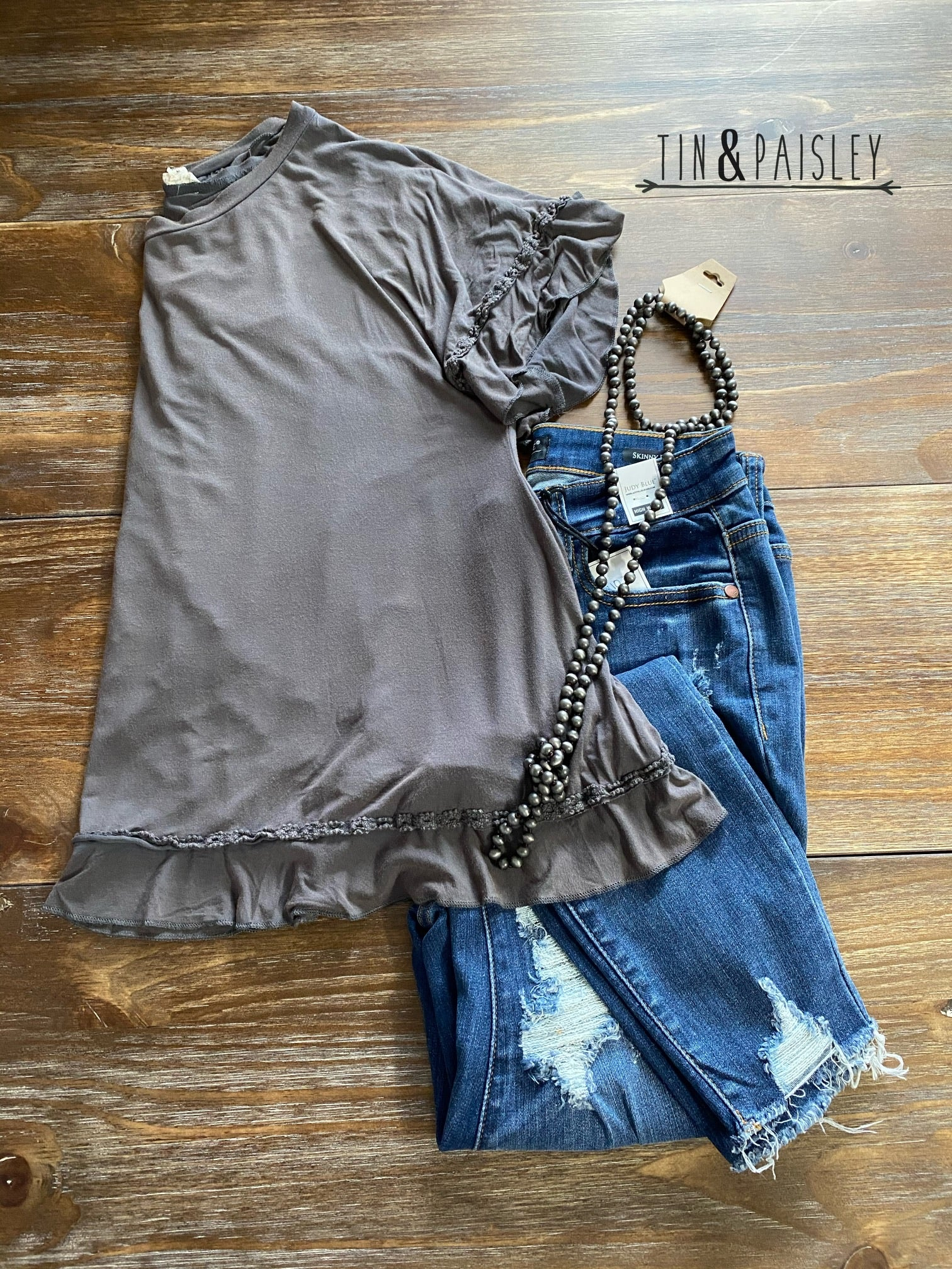 Peek-A-Boo Ruffle Top