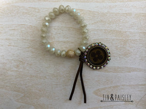 Bracelet With Bling And Charm