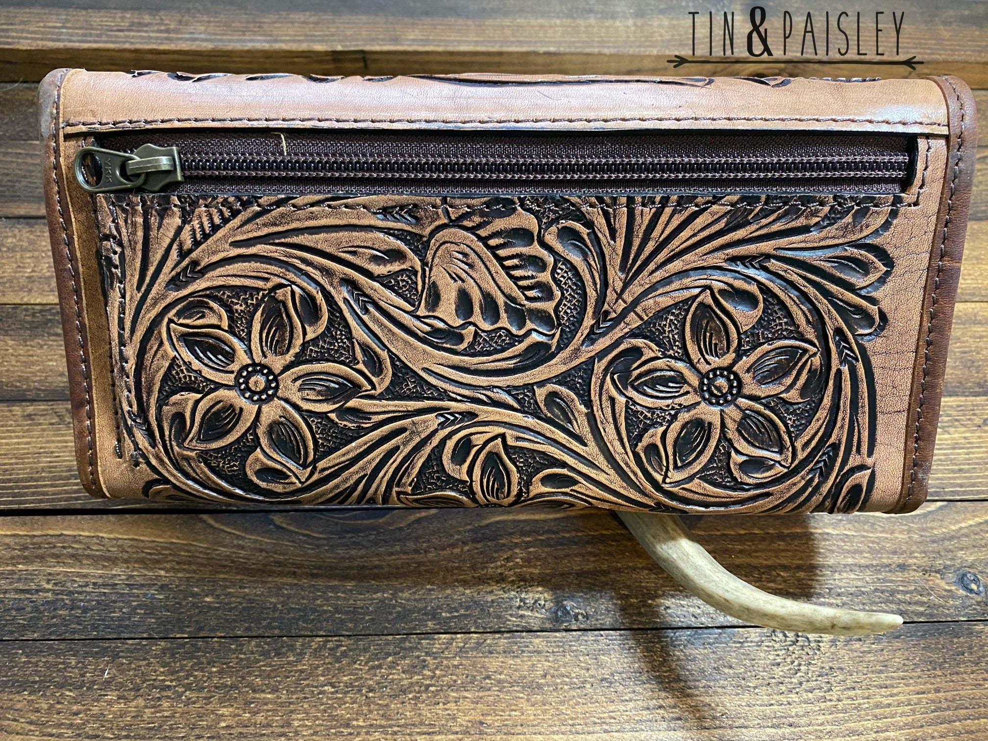 The Nora Floral Tooled Wallet