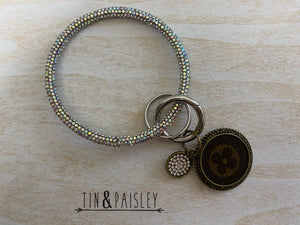 Key Ring With Bling Inspired