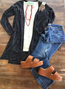 Beyond Soft Charcoal Cardigan