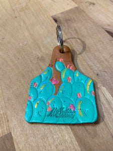 Leather Keychain Cactus