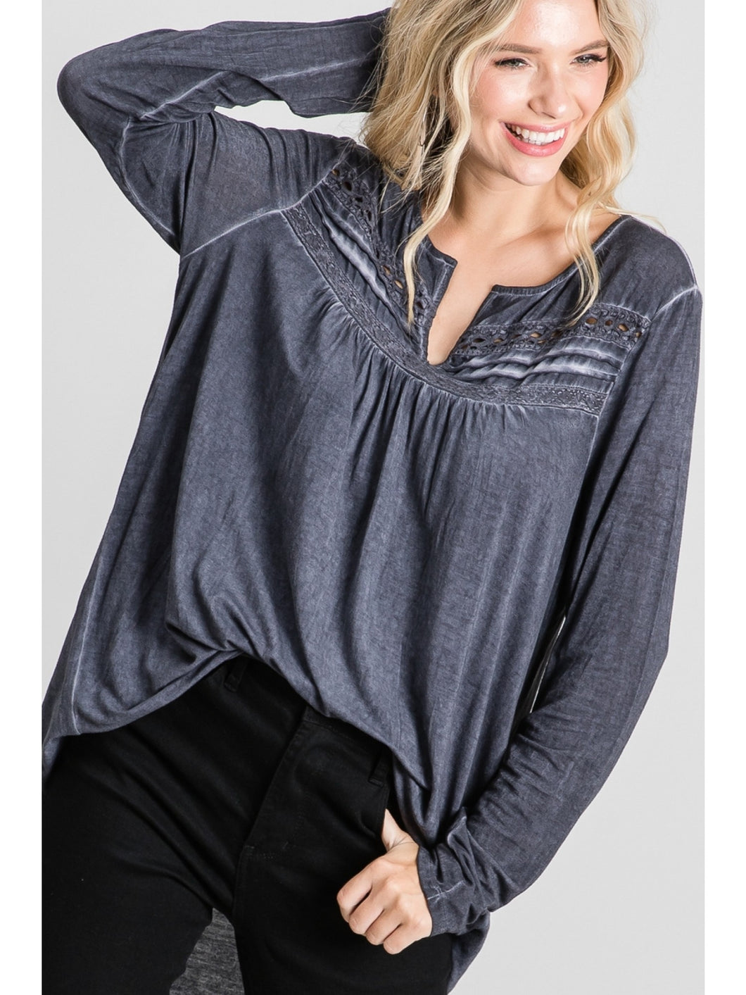 Just Right Rustic Grey Long Sleeve