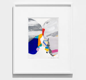 bright, colourful, framed abstract painting