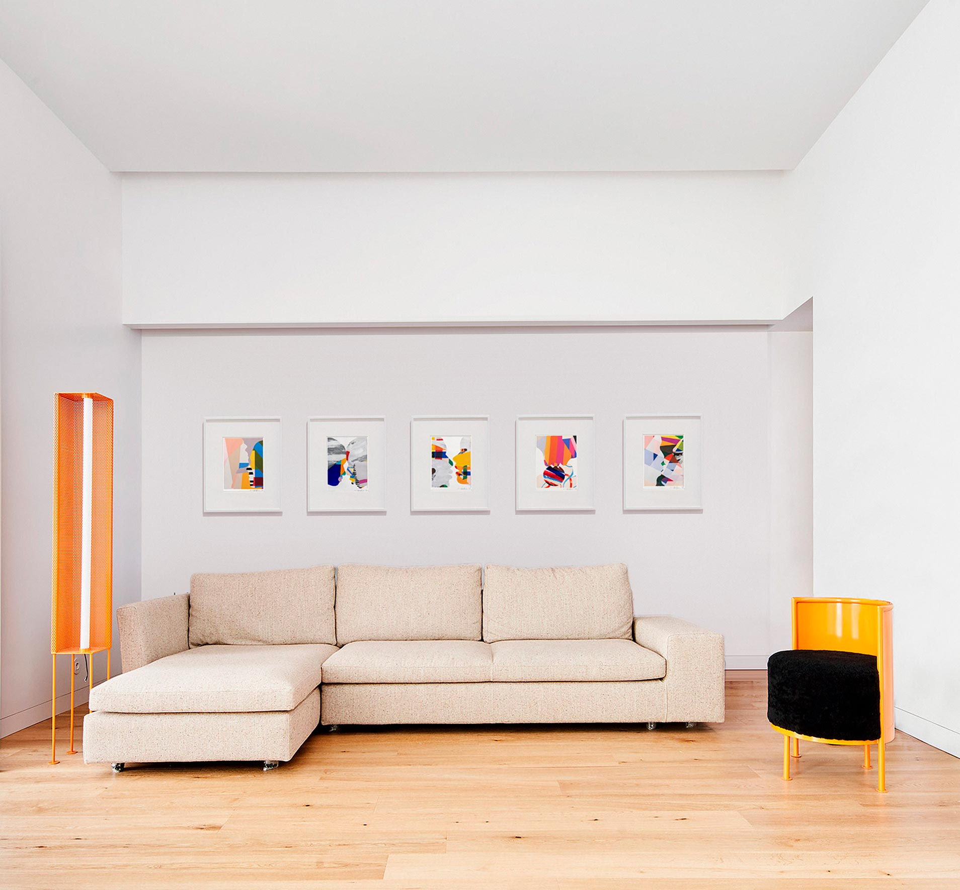 Bright,colourful, whole collection framed abstract painting  interior display