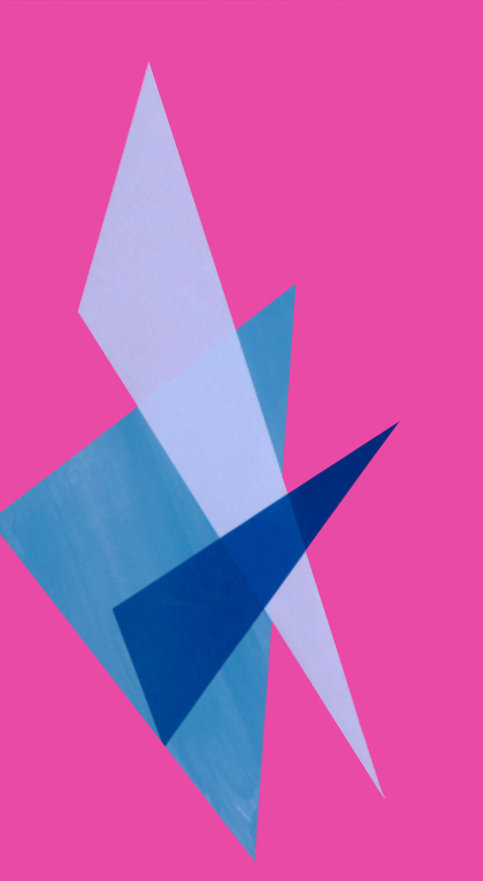 blue and pink geometric shaped print detail