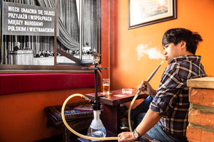 Bartek in his favourite shisha bar in Warsaw