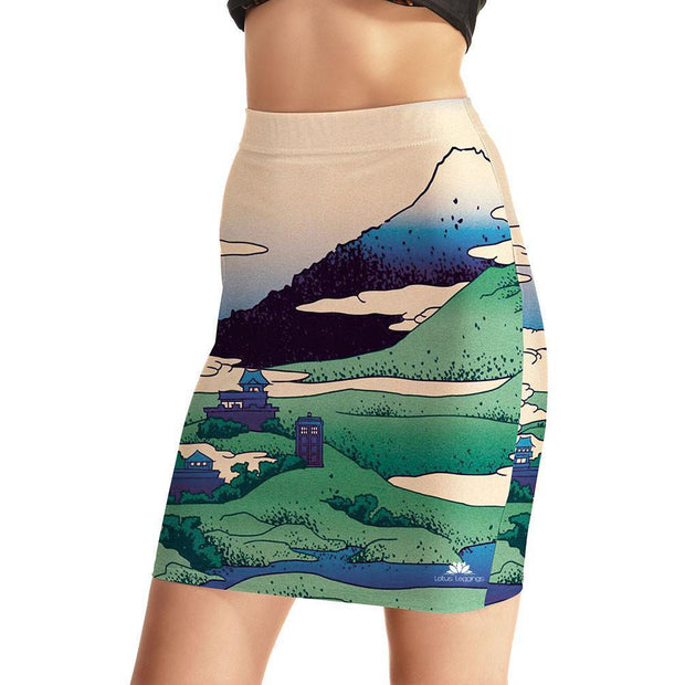 HIDDEN TARDIS BODYCON SKIRT