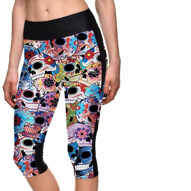 DAY OF THE DEAD ATHLETIC CAPRI