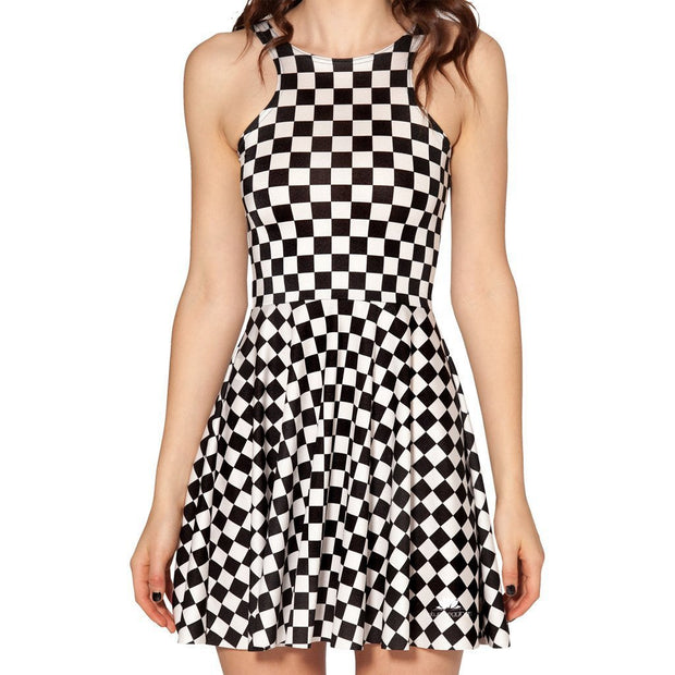 INDY CHECK SKATER DRESS