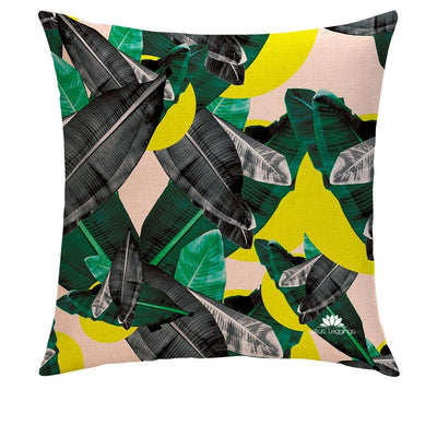 COLORFUL PALMS PILLOW COVER