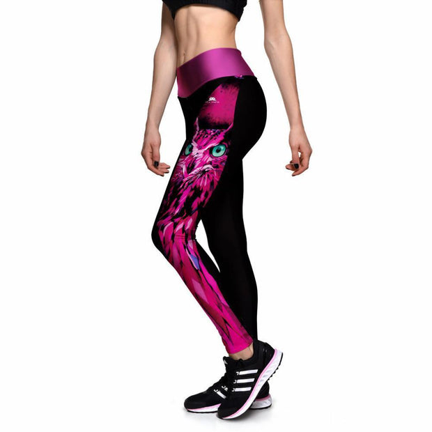 MAGENTA OWL ATHLETIC LEGGINGS