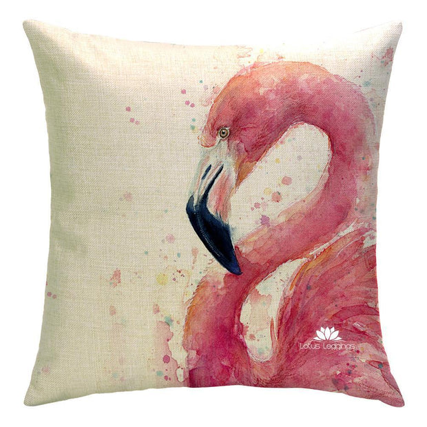 LOVE ME FLAMINGO PILLOW COVER