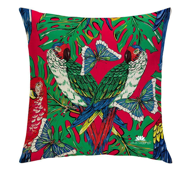 BUTTERFLY PARROTS PILLOW COVER