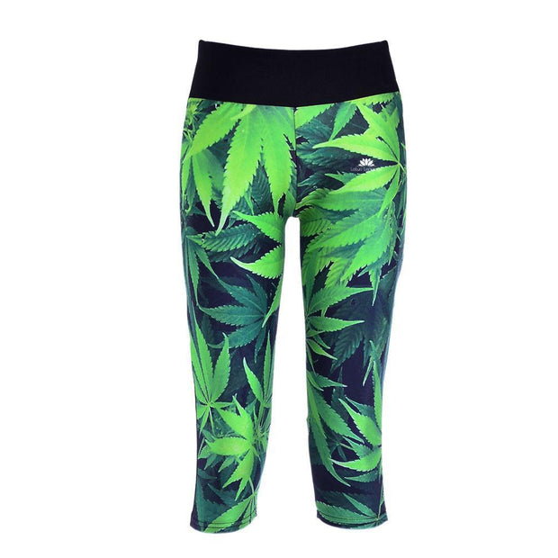MARIJUANA ATHLETIC CAPRI
