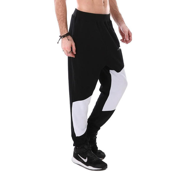 JET BLACK WITH WHITE JOGGERS