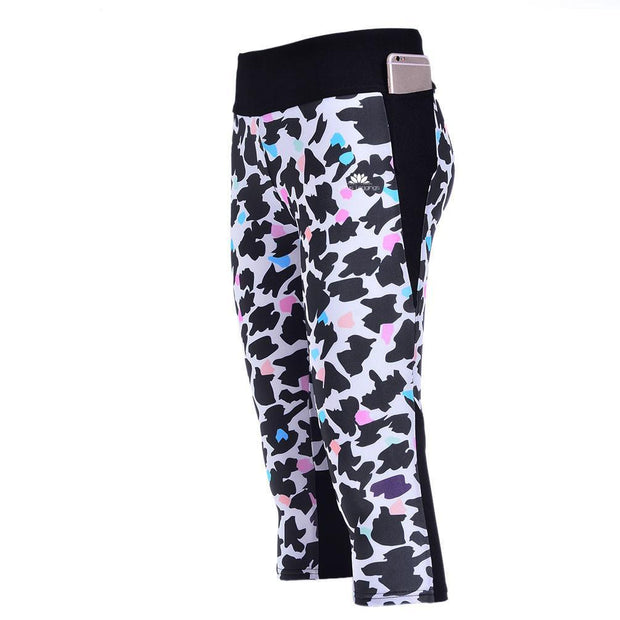 COLORFUL LEOPARD ATHLETIC CAPRI