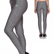 CRAZY STRIPES ATHLETIC LEGGINGS
