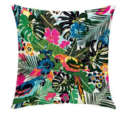 COLOR ME PARROTS PILLOW COVER