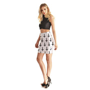 INVERSE CROSSES BODYCON SKIRT