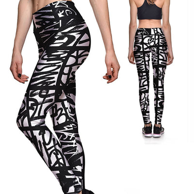 SCRIBBLE ATHLETIC LEGGINGS