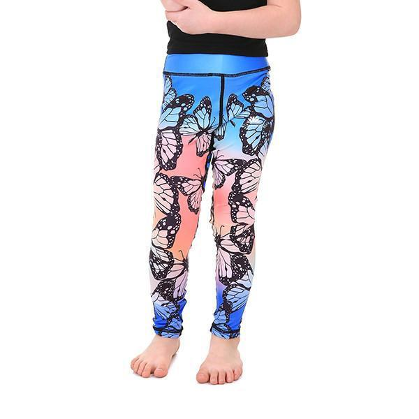 LOTUSX™ KID'S RAINBOW BUTTERFLY LEGGINGS