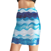 WAVY BODYCON SKIRT