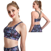 MIDNIGHT GARDEN CRISS-CROSS BRAS
