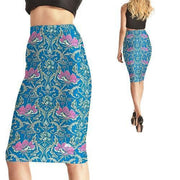 DELICATE FLOWERS PENCIL SKIRT
