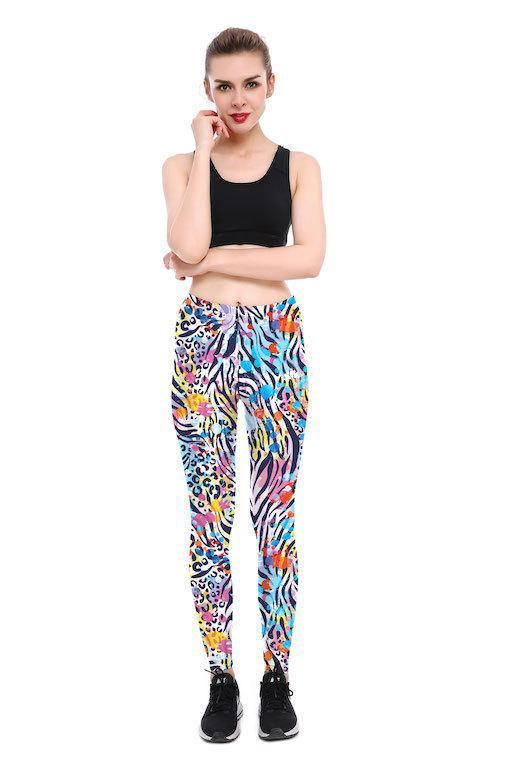 ZEBRA CHEETAH LEGGINGS