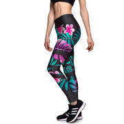 TROPICAL ISLANDER ATHLETIC LEGGINGS