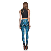 Blue Frost Leggings - Lotus Leggings