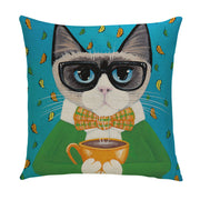 Purrfect Morning Pillow Cover - Lotus Leggings