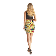 Comic Book Gal Bodycon Skirt - Lotus Leggings