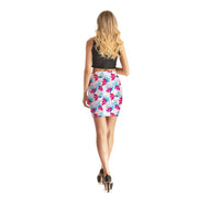 Brushy Flower Bodycon Skirt - Lotus Leggings