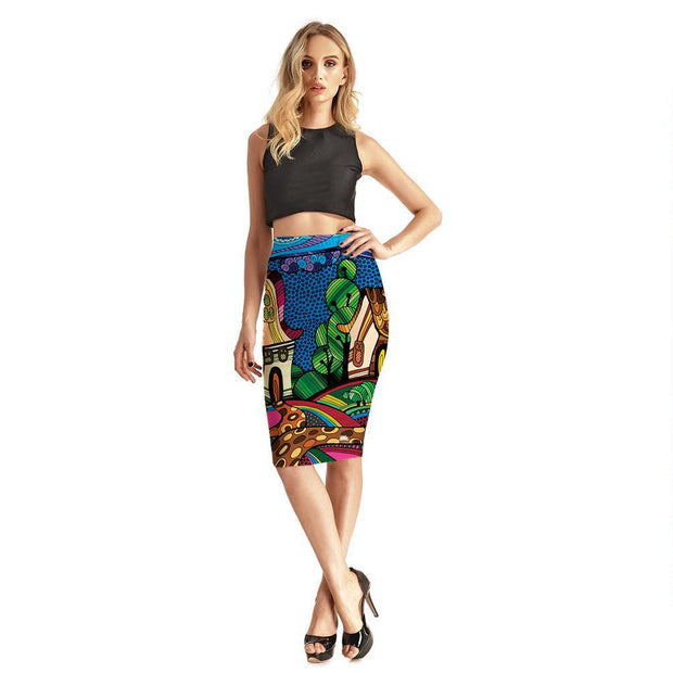 FUNKY TOWN PENCIL SKIRT
