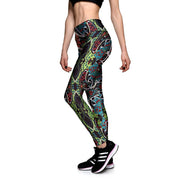 Deco Floral Athletic Leggings - Lotus Leggings