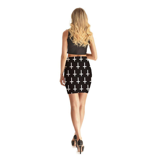 Crosses Short Skirt - Lotus Leggings