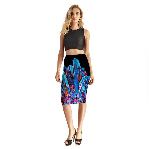FIRE AND ICE CRYSTAL PENCIL SKIRT