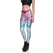 Gradient Sugar Skull Leggings - Lotus Leggings