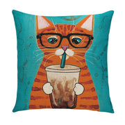 Cat Frap Pillow Cover - Lotus Leggings