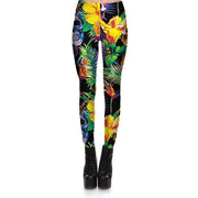 Tropical Blossom Skulls Leggings - Lotus Leggings