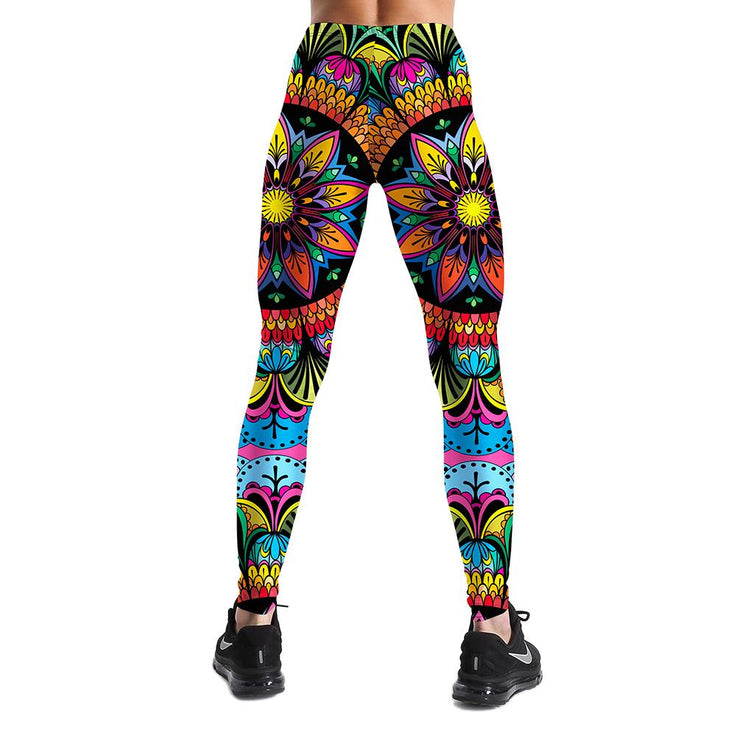 MULTI-COLOR MANDALA LEGGINGS