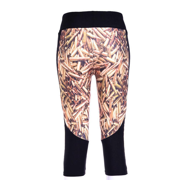BULLETS ATHLETIC CAPRI - Lotus Leggings