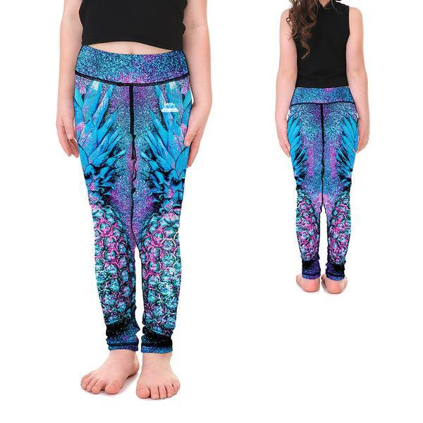 KID'S LOTUSX™ SPARKLE PINEAPPLE LEGGINGS