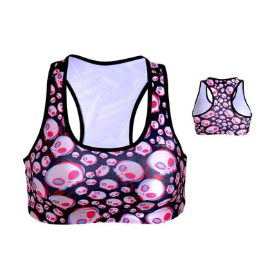 COLORFUL SKULLS SPORTS BRA