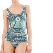 DOLLA DOLLA BILL ONE PIECE SWIMSUIT - Lotus Leggings